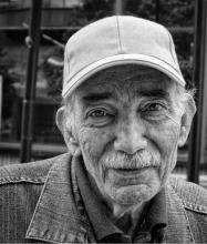 Ritratto di anziano in bianco e nero